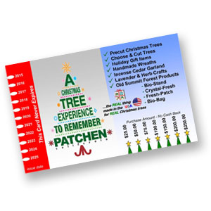 Gift card patchen california christmas tree farms giftcard negle Image collections